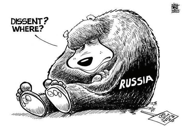 Зарубежные комиксы и карикатуры о Pussy Riot (24 картинки)