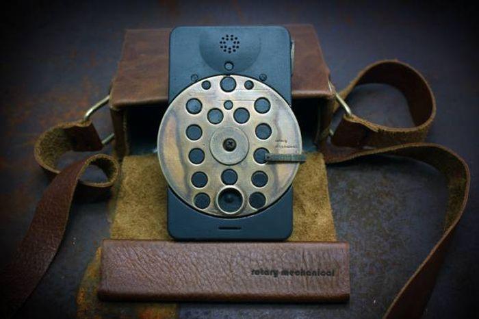 Необычный смартфон в стиле стимпанк (15 фото)