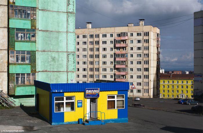 Жизнь в северном Норильске (29 фото)