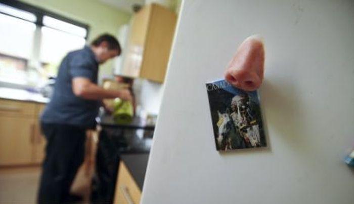 Самый необычный магнит для холодильника в мире (4 фото)