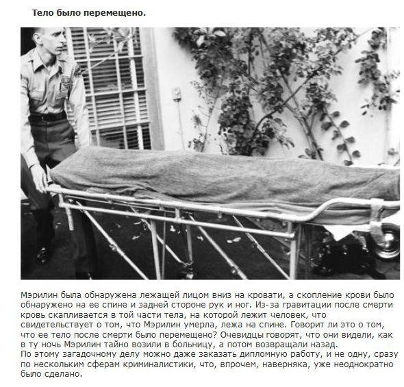 фото смерть мерлин монро
