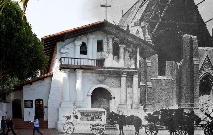 Сан-Франциско после землетрясения 1906 года и в наши дни (25 фото)