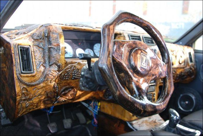 Деревянный тюнинг салона авто своими руками (10 фото)