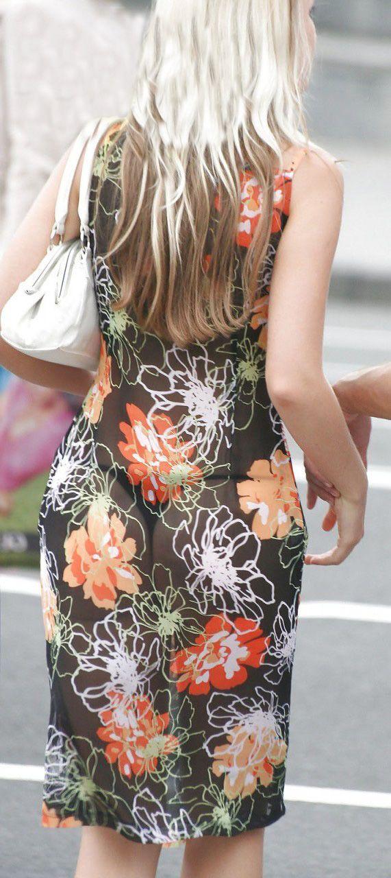 Прозрачное платье (4 фото)