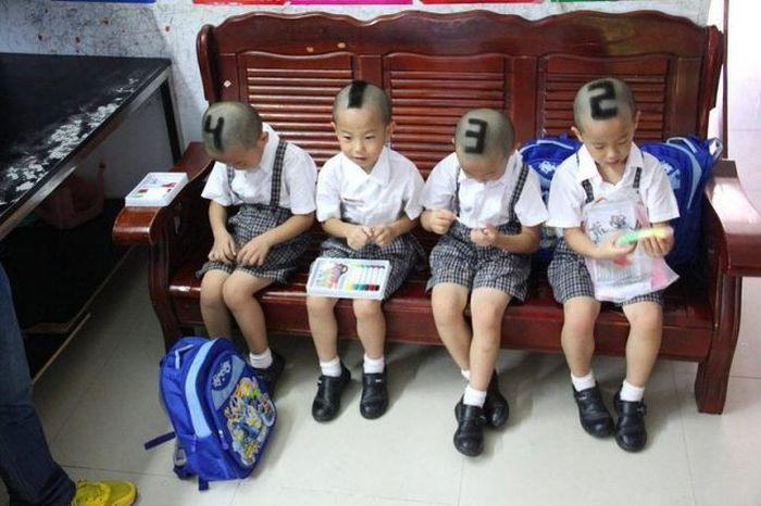 Пронумерованные близнецы (5 фото)
