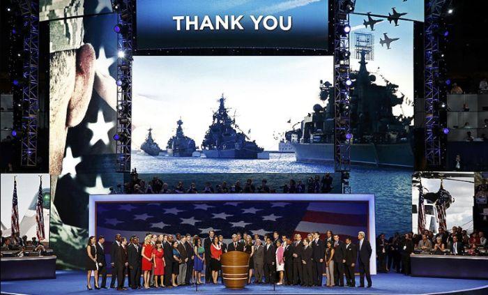 Российский флот на съезде Демократической партии США (5 фото)