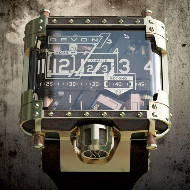 Крутые стимпанк часы стоимостью в 13 500 долларов (10 фото)