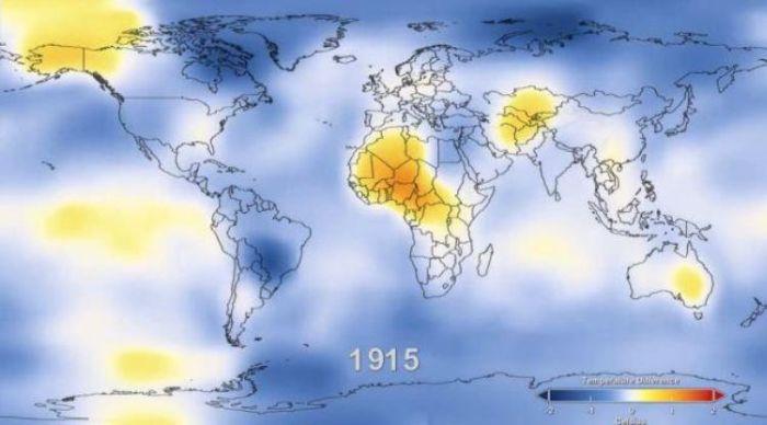 Глобальное потепление по статистике с 1888 по 2011 (6 фото + видео)