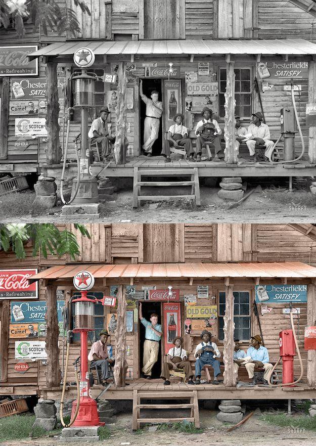 Черно-белые снимки в цвете (27 фото)