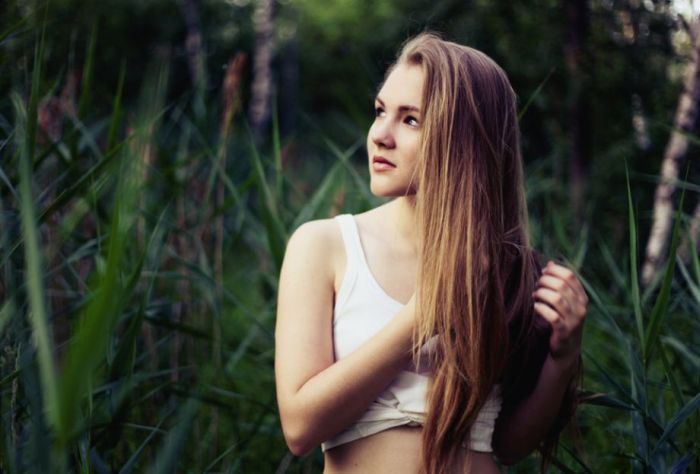 Снимки симпатичных девушек (50 фото)
