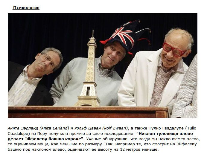 """Забавные открытия 2012 года на церемонии """"Шнобелевская премия"""" (10 фото)"""