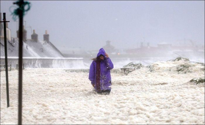 Редкое природное явление в Шотландии (7 фото)
