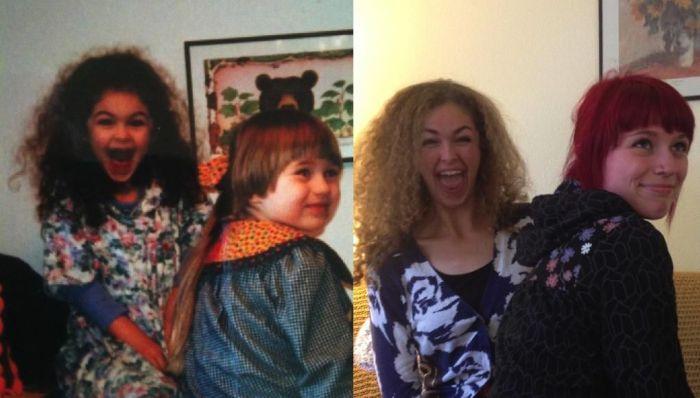 В детстве и сейчас. Часть 2 (25 фото)