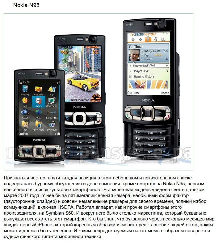 ТОП-10 мобильных телефонов из прошлого, которые удивили мир (10 фото)