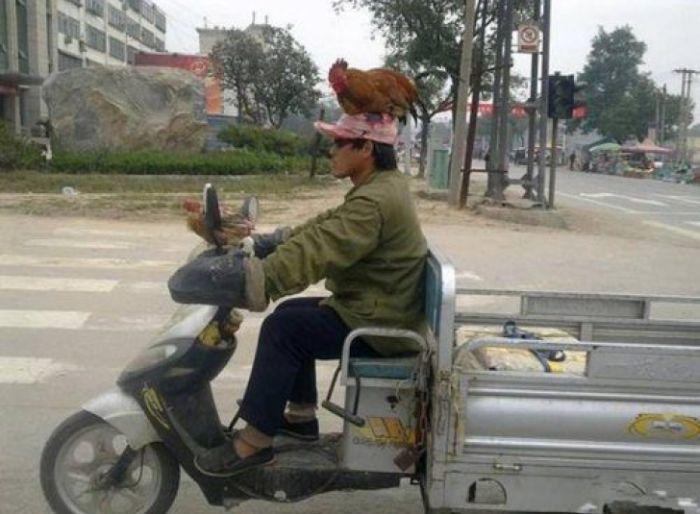 Суровый китайский транспорт (3 фото)