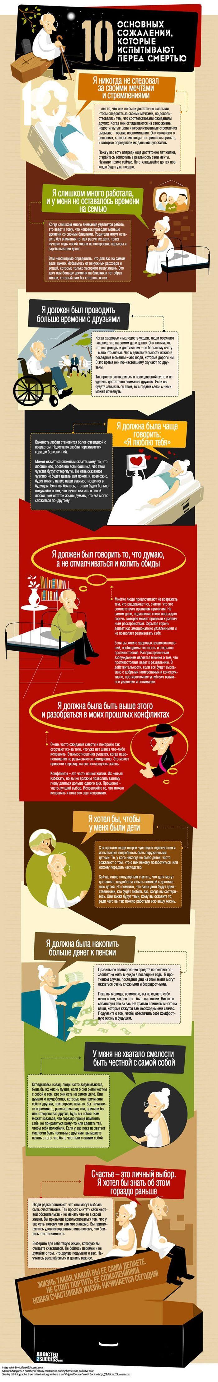 ТОП-10 вещей, о которых сожалеют в старости (1 картинка)