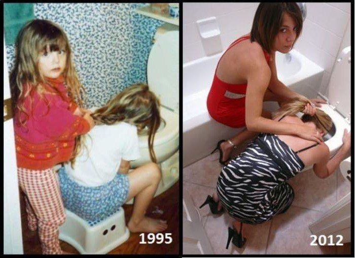 В детстве и сейчас. Часть 3 (30 фото)