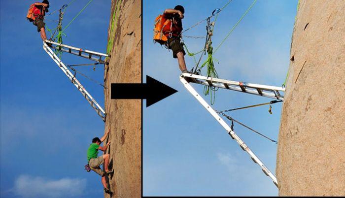 Как получаются фотографии альпинистов (10 фото)