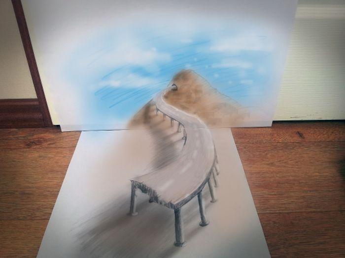 том как нарисовать объемные рисунки из фото пушисты