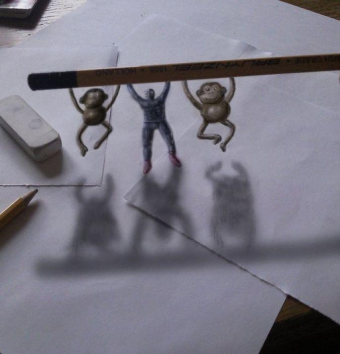 Шикарные 3D-рисунки, сделанные с помощью карандаша (33 фото)