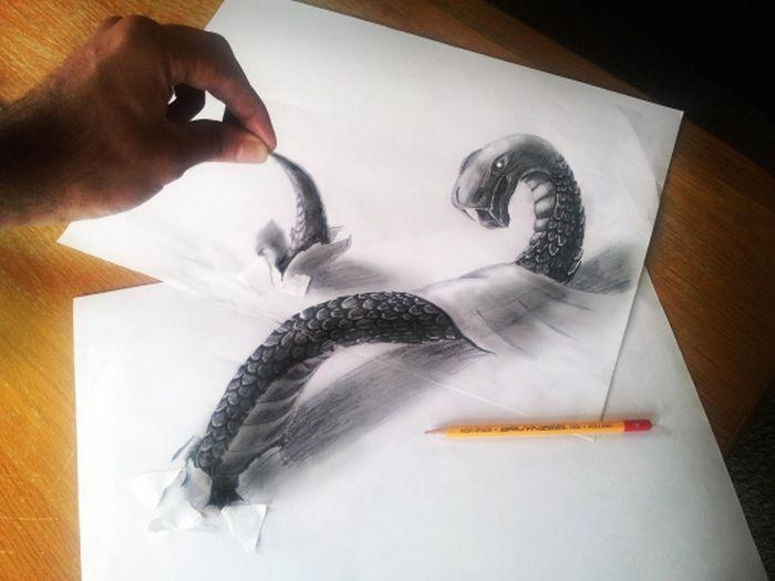 Шикарные 3d рисунки сделанные с