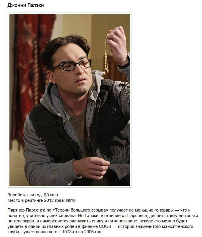 Самые состоятельные актеры телесериалов (10 фото)