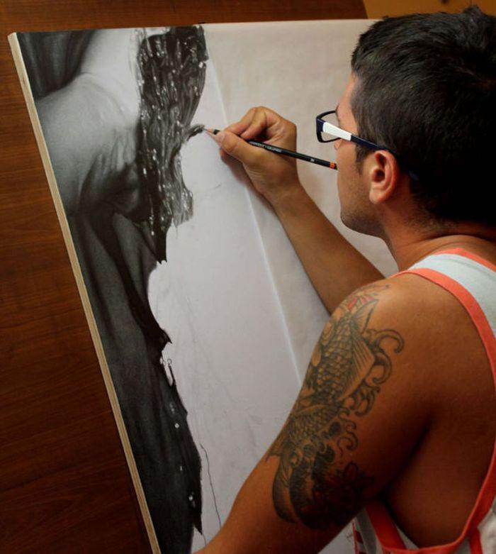 İnanılmaz Karakalem Çalışması -Diego Fazio (6 Fotograf)