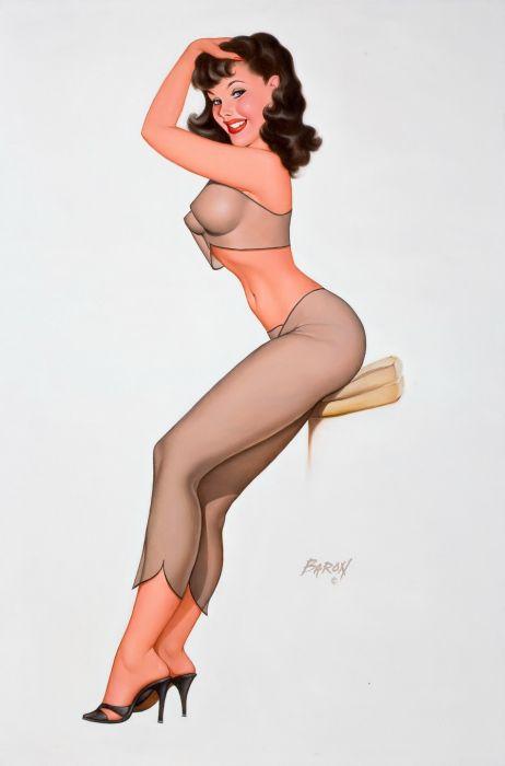 Классные рисунки идеальных девушек в стиле Пин-ап (57 фото)