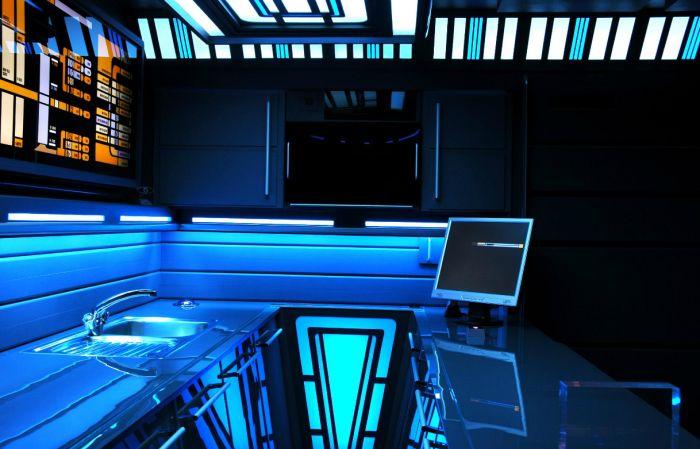 """Квартира настоящего фаната сериала """"Звёздный путь"""" (16 фото)"""