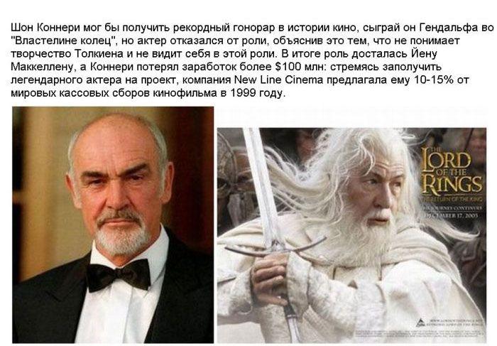 Знаменитости, которые отказались от великих ролей (23 фото)