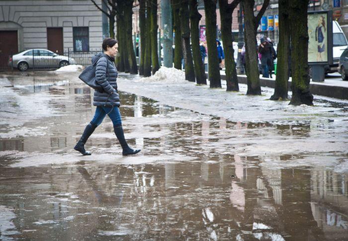 В Москве выпал первый снег (25 фото)