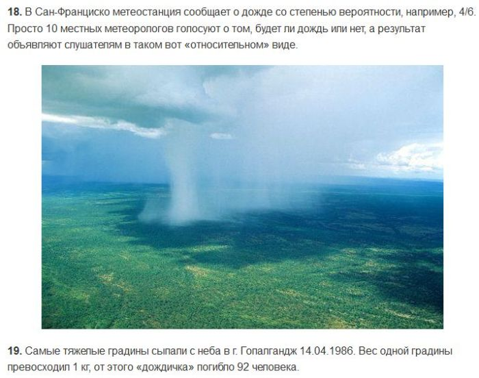 ТОП-20 исторических фактов о дожде (8 фото)