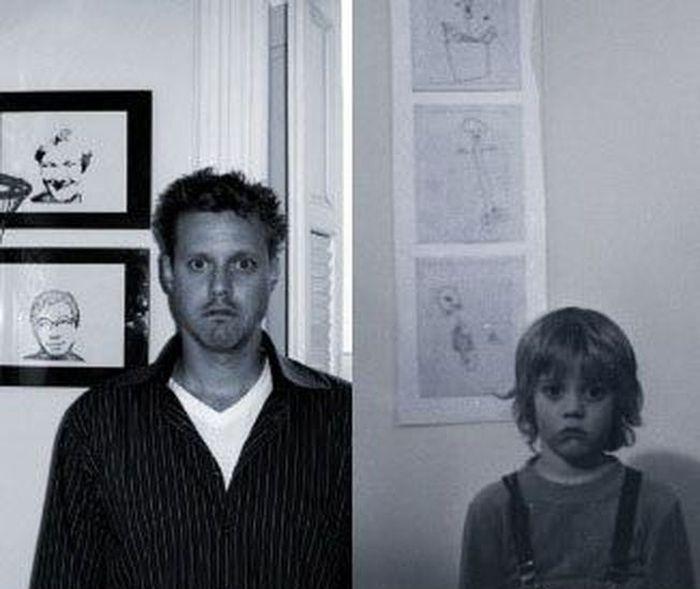 В детстве и сейчас. Часть 4 (30 фото)