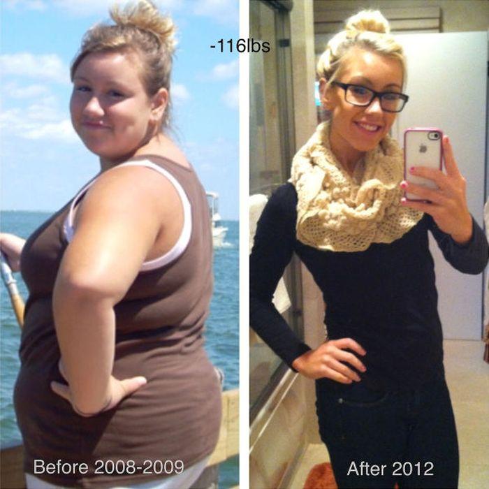 Девушки, которым удалось похудеть (34 фото)