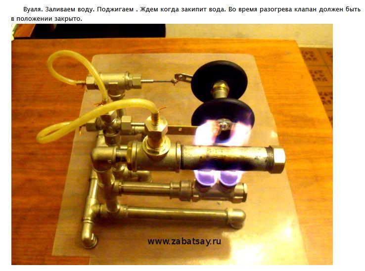 Как в домашних условиях сделать паровой двигатель