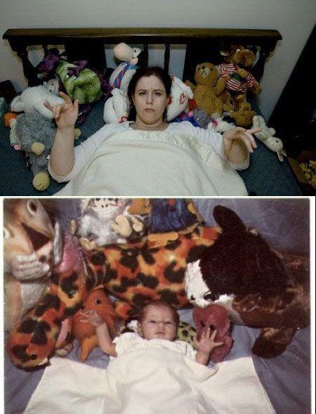 В детстве и сейчас. Часть 5 (30 фото)