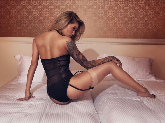 Красивые татуировки на стройных девушках (50 фото)