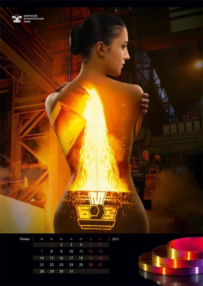 Обнаженный календарь на 2013 год с сотрудницами металлургического завода (15 фото)
