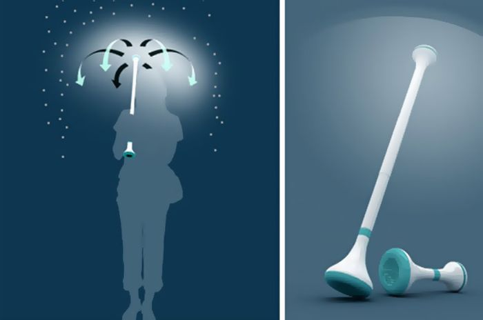 Креативный концепт невидимого зонта (4 фото)