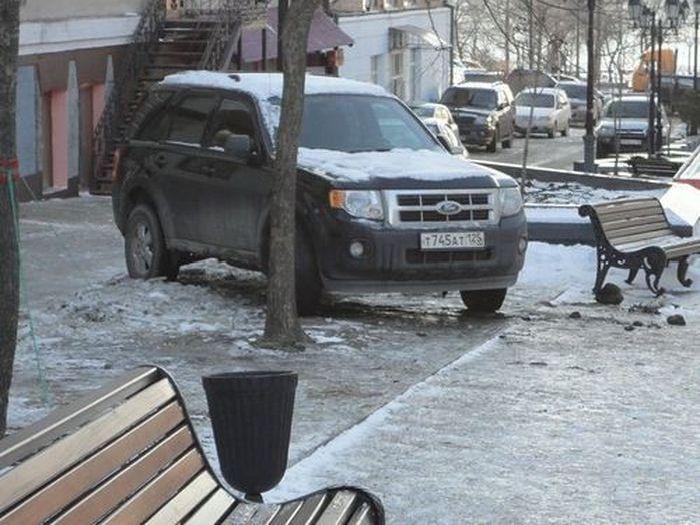 Особенности национальной парковки (5 фото)