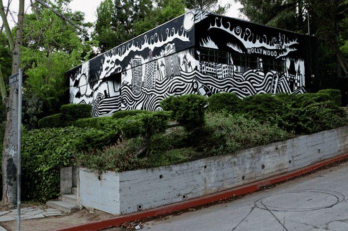 Живые анимированные рисунки граффити (21 гифка)