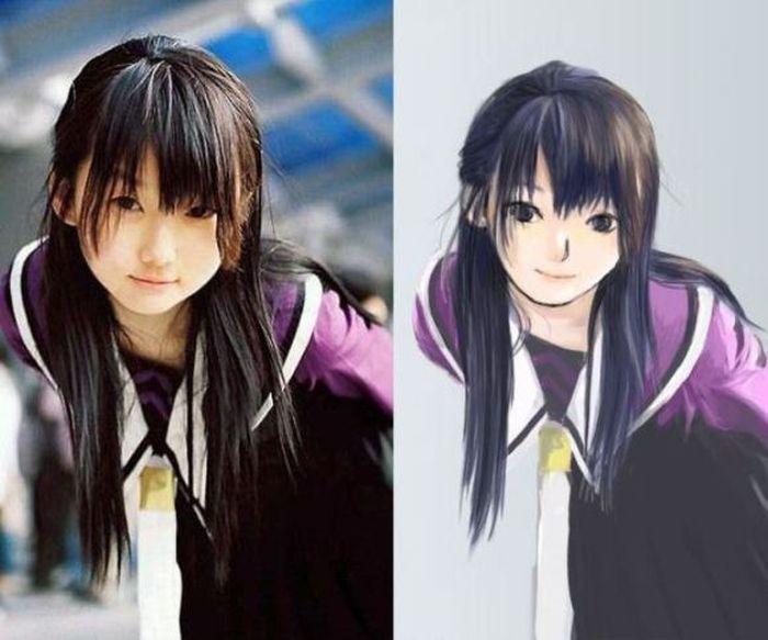 Из фотографии в аниме (25 фото) .