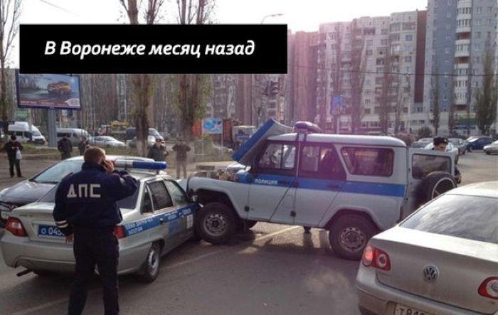 Суровый полицейский УАЗик (2 фото)