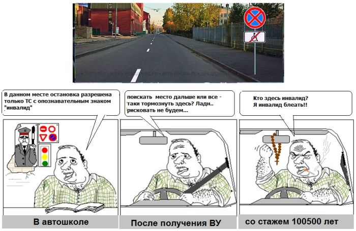 Применение ПДД на дорогах нашей страны (8 картинок)