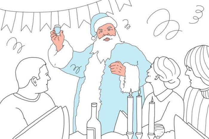 Как всё устроено: работа Дедом Морозом (3 картинки + текст)