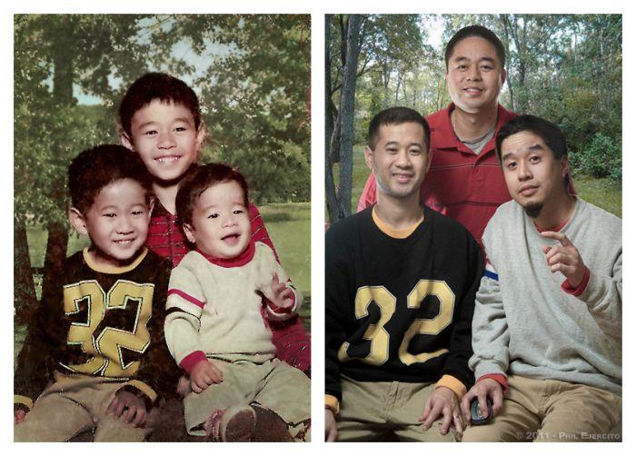 В детстве и сейчас. Часть 7 (32 фото)