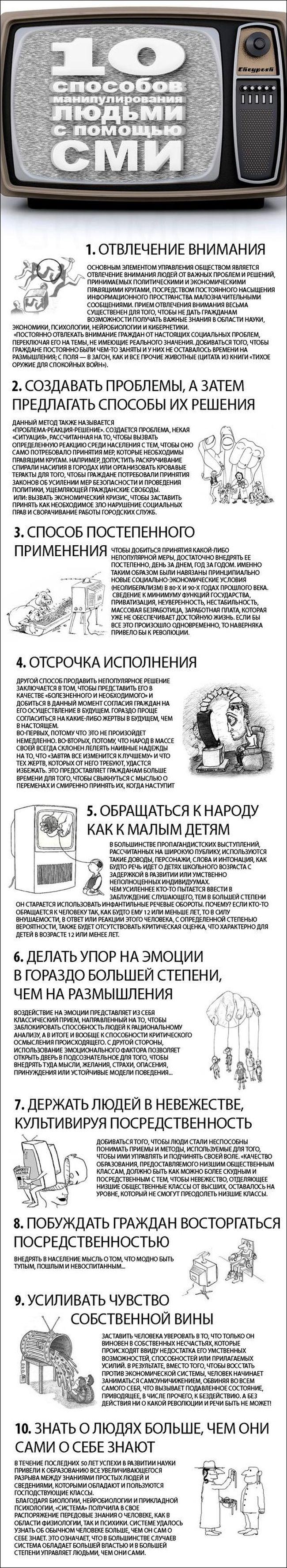 Способы манипуляции сознанием при помощи СМИ (1 картинка)
