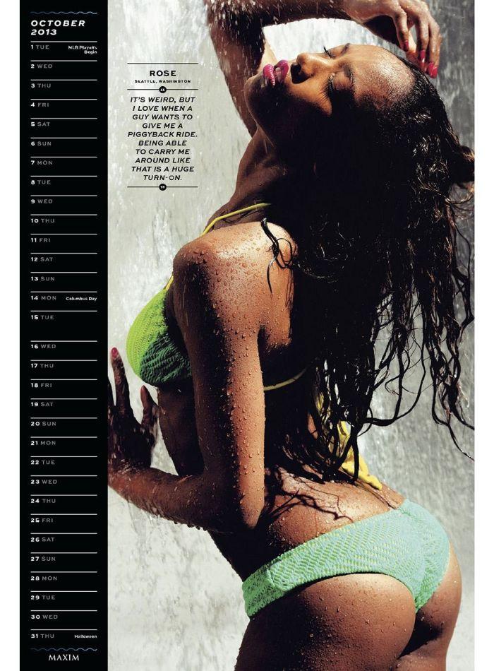 Свежий календарь на 2013 год от журнала Maxim (14 фото)