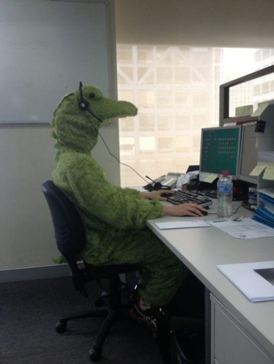 Забавные снимки, сделанные на рабочем месте (31 фото)