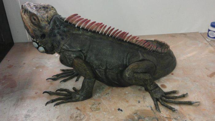 Удивительный макет ящера (20 фото)